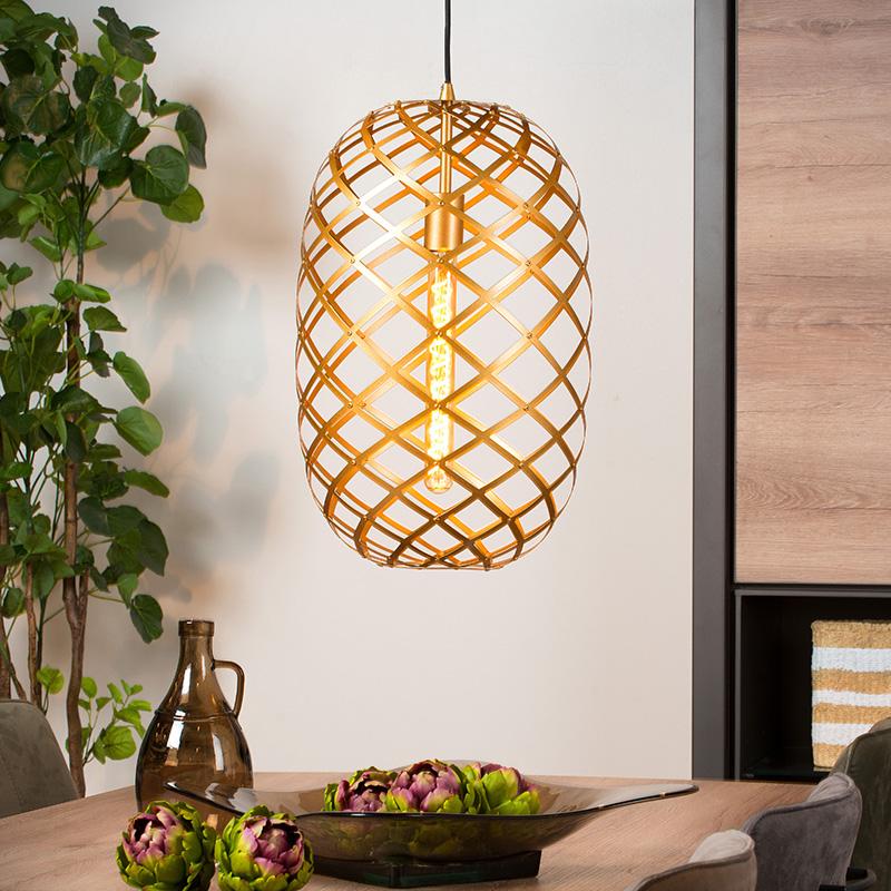 Gouden hangende lampen