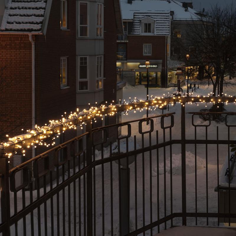 Kerstverlichting buiten