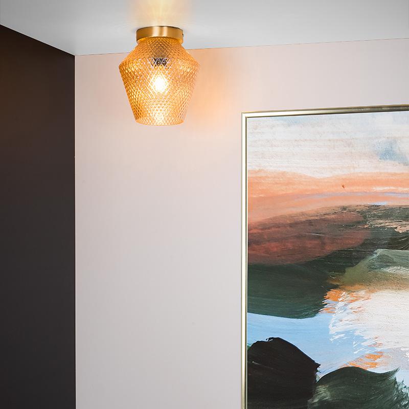 Glazen plafondverlichting